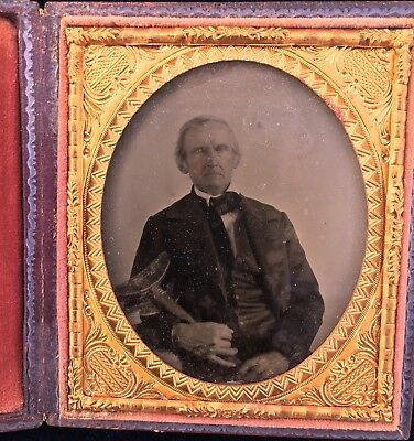 ambrotype photo In Leather Case