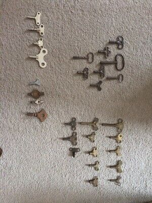 Joblot Collection Various Vintage Clock Keys