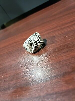 motorcyle, collectable, Club, MC, Ring, Club Ring , Gang , Sterling Silver ,