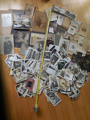 Large - Huge Lot Of Antique & Vintage Photos - Cabinet Cdv Tintype Polariod B&w