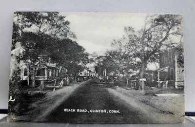 Connecticut CT Clinton Beach Road Postcard Old Vintage Card View Standard Post