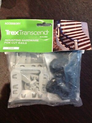 Trex Transcend Mounting Hardware For Cut Rails For Stair In White.