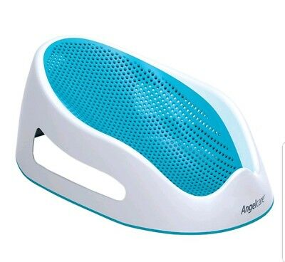 Angelcare Soft Touch Baby Bath Support Chair Seat Aqua colour Great for Newborn