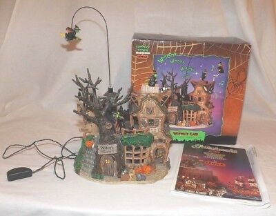 Lemax Halloween Village Witch's Lair Spooky Town Decoration 2004 Witch Haunted