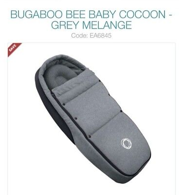 Bugaboo Bee Footmuff Nest Cosy Toes Grey Immaculate