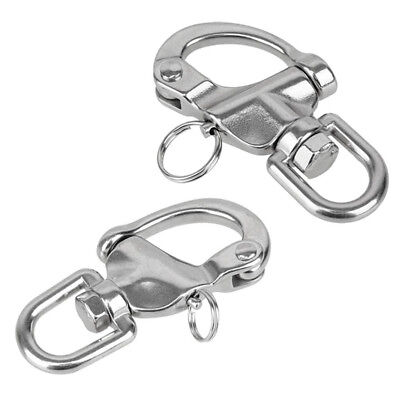 2pcs Quick Release Swivel Eye Snap Shackle Bail for Sailing Boating Yachting