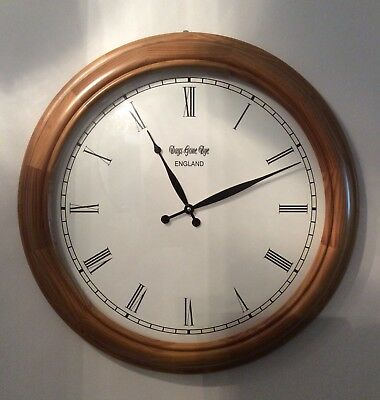 Days Gone Bye Gorgeous Pine Clock/Excellent Condition/Large Frame