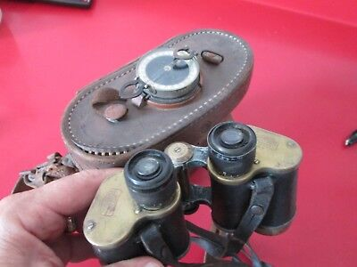 Antique  CARL ZIESS JENA - MARINE GLASS 6X  BINOCULARS  serial #463394  # 2