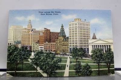 Connecticut CT New Haven Green Postcard Old Vintage Card View Standard Souvenir