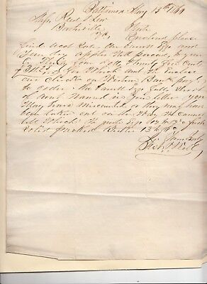 Business letter from Baltimore 05/13/1860 to Boothsville Virginia pre civil war