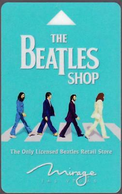 MIRAGE casino hotel*THE BEATLES abbey road picture*las vegas key card*FREE SHIP!