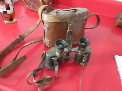 Antique  CARL ZIESS  LONDON 1913 #3  6X BINOCULARS  serial #4653  #4