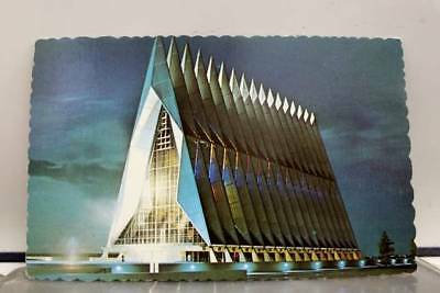 Colorado CO US Air Force Academy Cadet Chapel Postcard Old Vintage Card View PC