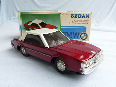 Red China MF 052 BMW 6er 6 Series E24 Blech Auto Tin Toy 80er Jahre in Box 22cm