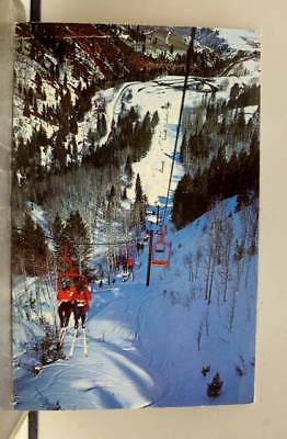 Colorado CO Aspen Highlands Double Chairlift Exhibition Lift Postcard Old View