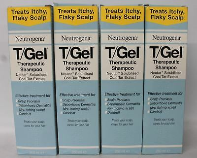 4 x BNIB NEUTROGENA T-Gel Therapeutic Itchy Scalp & Dandruff Shampoo 250ml