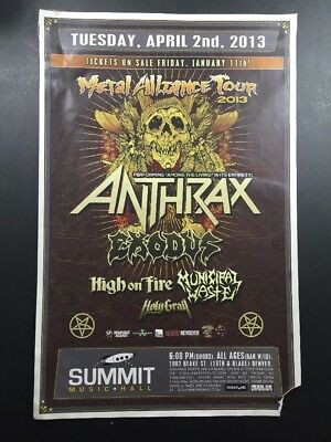 Athrax, Metal Alliance Tour 2013, Poster