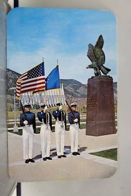 Colorado Springs CO US Air Force Academy Color Guard Postcard Old Vintage Card
