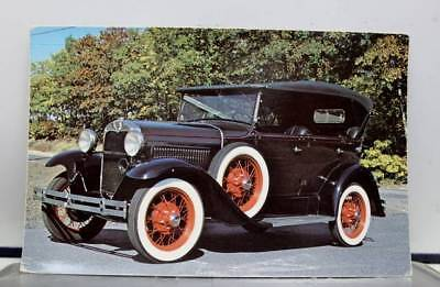 Car Automobile 1930 Ford Model A Phaeton Postcard Old Vintage Card View Standard