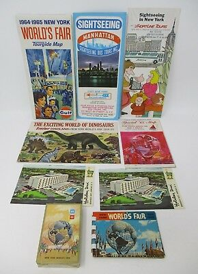 Lot 1964-1965 New York World's Fair Memorabilia Sealed Playing Cards Map & More