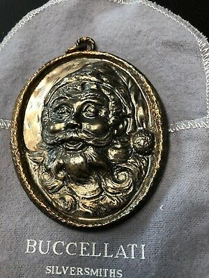 Santa Claus Ornament 1988 Sterling by Buccellati Preowned with Box