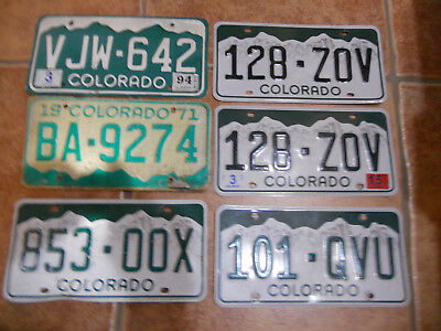 10 US license plate pair lot bulk Colorado Expired various condition