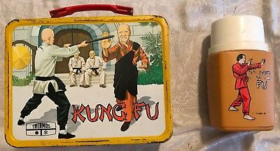 Vintage 1974 Kung Fu Lunchbox W/ Matching Thermos