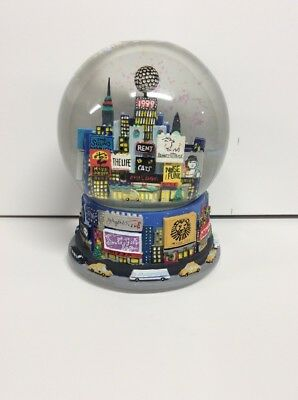 1999 New York Times Square BROADWAY  Shows Cares Snow Globe 1st Yr Bloomingdales