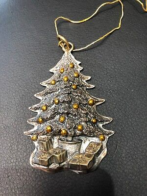 Christmas Tree Ornament 1989 Sterling by Buccellati Preowned with Box