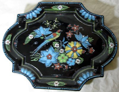 """A Realy Nice Porceleyne Fles Black Delft 12"""" Plate Or Tray In Mint Condition."""