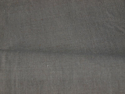 Yardage Antique Old Linen Flax Handwoven Homespun Fabric with DEFECT