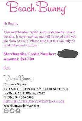 987ddde244 Gift card- Beach Bunny Swimwear, no pick up needed (delivery Via Email)