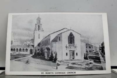 Oklahoma OK St Marys Catholic Church Ponca City Postcard Old Vintage Card View