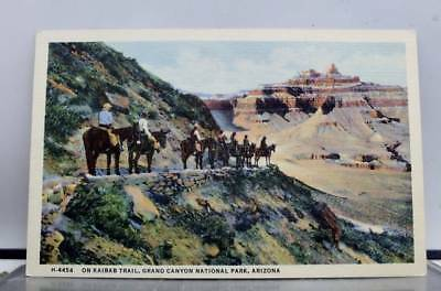 Arizona AZ Kaibab Trail Grand Canyon Park Postcard Old Vintage Card View Post PC
