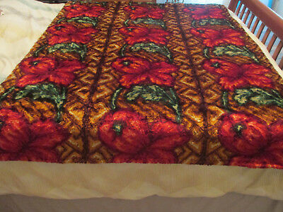 Antique / Vintage Carriage / Buggy / Sleigh Lap Robe / Blanket  Free Shipping !!
