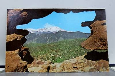 Colorado CO Pikes Peak Garden of Gods Postcard Old Vintage Card View Standard PC