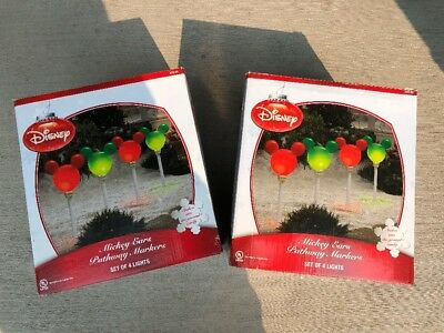 Disney Mickey Mouse Ears Icon Christmas Pathway Lights - 2 Boxes