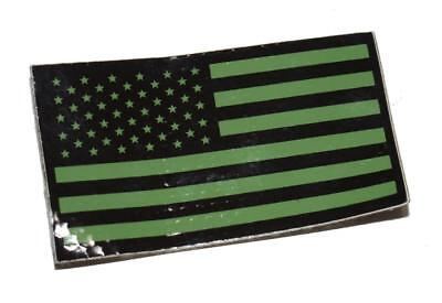 US Military Special Forces OD Green Infrared IR Flag Velcro Patch - SEAL CAG SOF