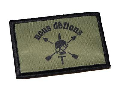 """US Army Special Forces """"Nous Defions"""" SOF ODA Green Beret Patch"""