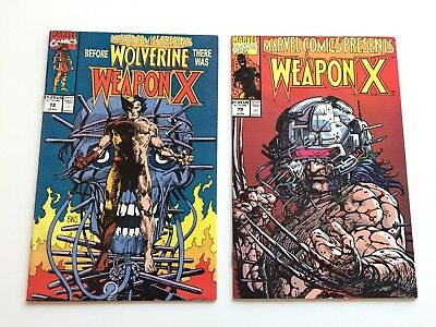 Marvel Comics Presents Weapon X 72 & 79 ungraded bagged and boarded