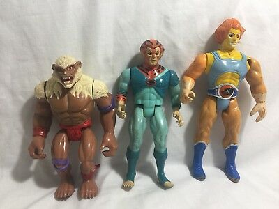 LOT Vintage 1985 LJN Thundercats Lion-O Monkian Tygra Battle-matic Action Figure
