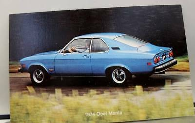 Car Automobile 1974 Opel Manta Postcard Old Vintage Card View Standard Souvenir