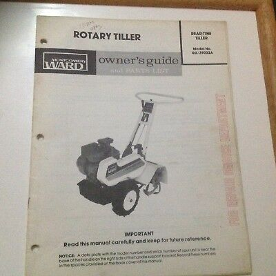 Gilson rear tine tiller models 51114 51114z owners with parts owners guide and parts manual wards gilson gil 39032a rear tine tiller ccuart Images