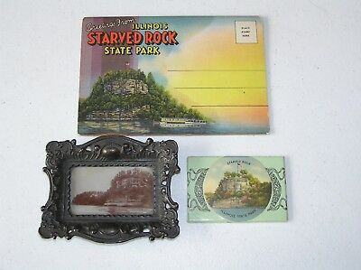 Starved Rock Illinois State Park Vintage Photo, mirror, post card souvenir lot