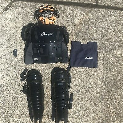 Full Umpire Baseball Pack Gear Mask Chest Complete Set Equipment Protect Guard