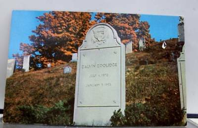 Vermont VT Burial of Calvin Coolidge Plymouth Postcard Old Vintage Card View PC