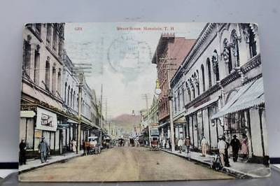 Hawaii HI Street Scene Honolulu Postcard Old Vintage Card View Standard Souvenir