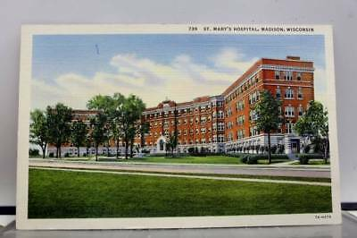 Wisconsin WI St Mary Hospital Madison Postcard Old Vintage Card View Standard PC