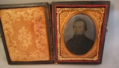 1/9 Plate Ruby Ambrotype Photo Civil War Union Soldier