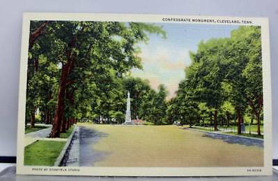 Tennessee TN Confederate Monument Cleveland Postcard Old Vintage Card View Post